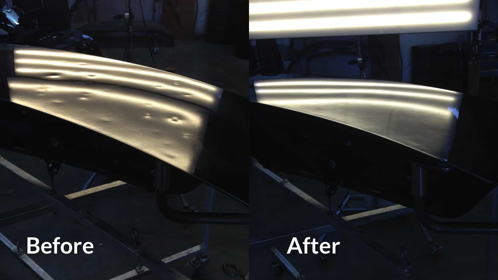 Hail Damage Repair Paintless Dent Repair Before and After Image